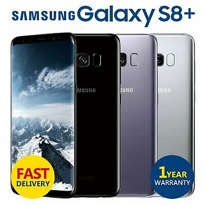 Samsung Galaxy S8 Plus + 64GB Unlocked Sim Free Mobile Smart Phone All Colours