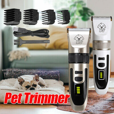 Rechargeable Pet Grooming Trimmer Clipper Set Cordless USB Cat Dog Hair Shaver