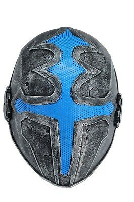 Cross Full Face Wire Mesh Protection Airsoft Paintball Mask PROP Blue F611