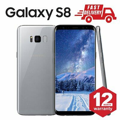 SAMSUNG GALAXY S8 64GB Android Mobile Phone Unlocked 4G Silver Very Good ES