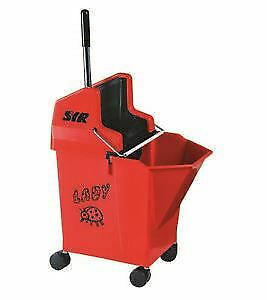 SYR Ladybug Kentucky Mop Bucket & Wringer Combo 15ltr capacity (Red)