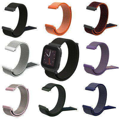 Replacement Braided Magic Tape Watch Strap Band for Fitbit Versa Smart Bracelet