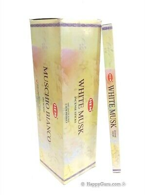 """White Musk"" 200 Incense Sticks (25 Square Packets) HEM Brand Sandalwood Incense"