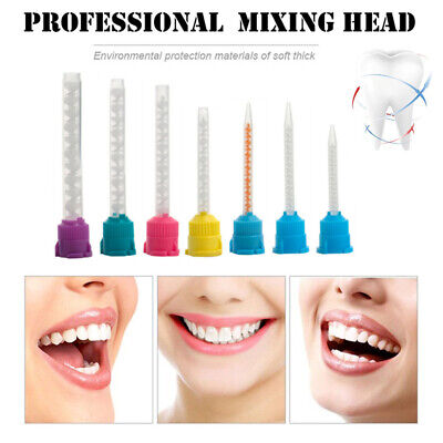50 Pcs Dental Silicone Impression Material Mixing Tips Tube Rubber Disposable CA