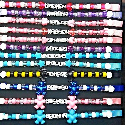 Personalised Dummy Chain Clip Boys and Girls
