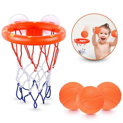 Baby Kids Toys Bath Basketball Hoop & Ball Bathtub Water Play Set for Toddler