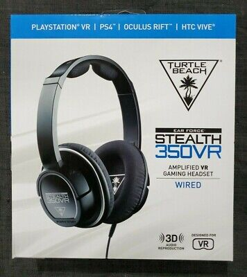 c77a5525ff4 NEW Turtle Beach Stealth 350VR Black Over the Ear VR Gaming Headsets For PS4