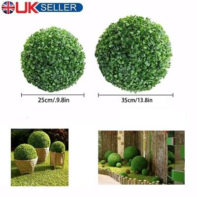 UK Large Artificial Buxus Balls Topiary Tree Boxwood Fake Grass Plant Decoration