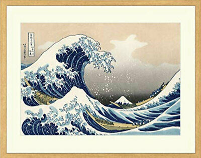 Japanese woodblock print Ukiyoe Hokusai Mt. Fuji RECUT GREAT WAVE NEW! F/S