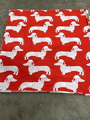Dachshund sausage dog crafts fabric material remnant piece 110x105cm