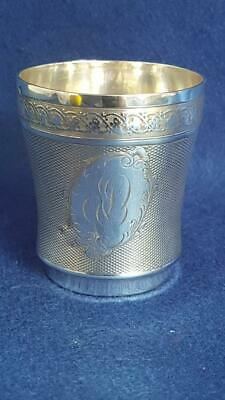 Stunning Quality Circa 1900 Art Nouveau French 950 Silver Drinking Cup 60g