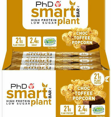 PhD Nutrition Smart Bar PLANT 12x64g High Protein Low Sugar VEGAN APPROVED