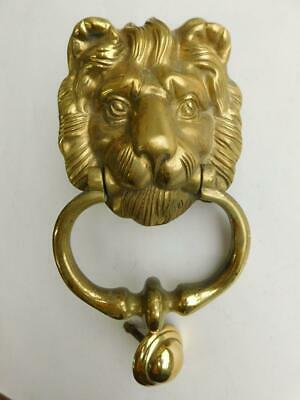 DK2 Fine Vintage Solid Brass Classic Lions Head Door Knocker.