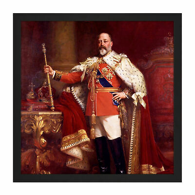 Fildes Portrait British King Edward VII Painting Square Framed Wall Art Print