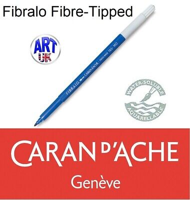 Caran d'Ache Artists FIBRALO Water Soluble Fibre-Tipped Ink Pens All Colours