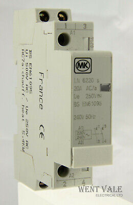 MK Sentry - LN6220s - 20a Double Pole Normally Open Contactor 240v Coil Unused