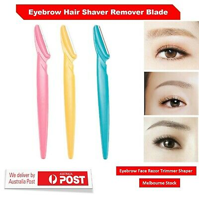 New Eyebrow Face Razor Trimmer Shaper Shaver Blade Knife Hair Remover Tool AU