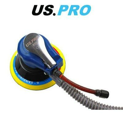 "US PRO Tools 6"" Air Orbital Palm Sander, Sanding, Flexible Inlet Connection 8329"