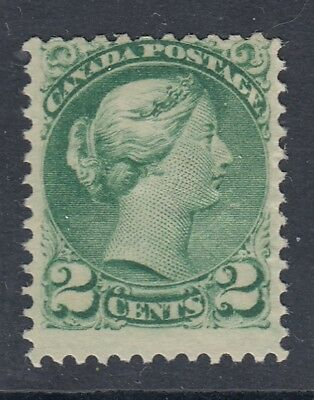 "@ Canada MINT NH Scott #36  2 cent green REVERSE OFFSET  ""Small Queen""  HCV $300"