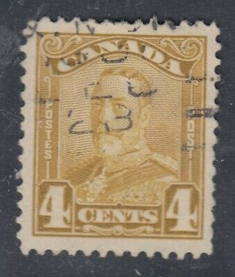 "Canada Scott #152  4 cent bistre ""Scroll""  F"