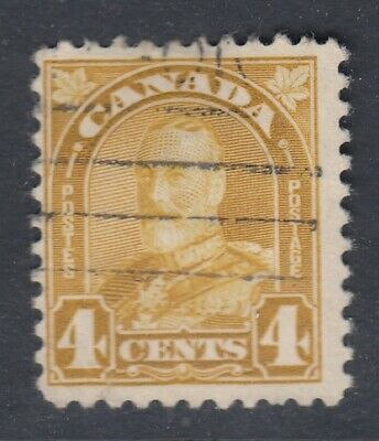 "Canada Scott #168  4 cent yellow bistre ""Leaf"""