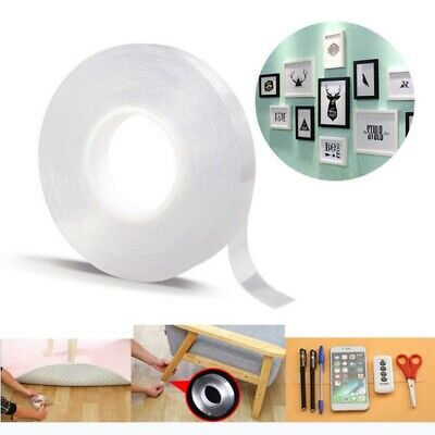 Reusable Nano Double Sided No-Trace Removable Grip Glue Tape Household Hanging