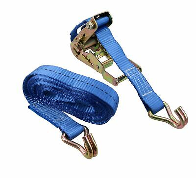 4 Metre x 25mm Heavy Duty ratchet Strap Tie Down Lashing Straps 0.4 Ton Rating