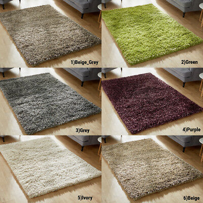 New Modern 8cm Very Thick Rug Soft Pile High Quality Shaggy Rugs Clearance Sale