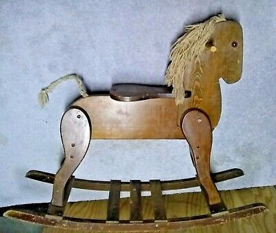Antique Wooden Hobby Horse