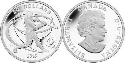 2013 Hitter-World Baseball Classic™ Proof $20 Silver Coin 1oz .9999 Fine (13109)