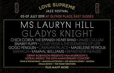 2 x LOVE SUPREME Jazz festival weekend + camping tickets