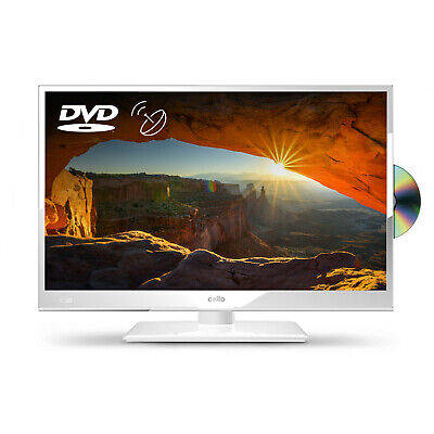 "Cello White 20"" HD Ready LED TV with Freeview and Satellite Tuner + DVD"