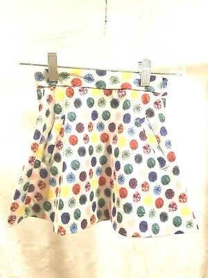 NWT Brown Label Girls Skirts Full Mid Knee Sizes 5,6,7,8 Multi-Color Polka Dots