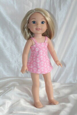 a9d72efc0b52c Swimsuit fits 14inch American Girl Wellie Wishers Doll Clothes Bathing Suit