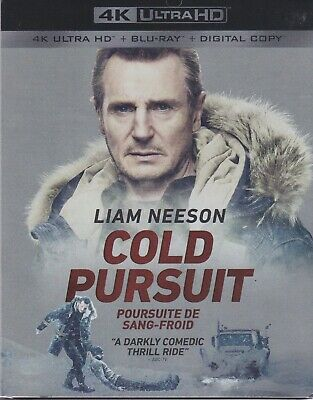 COLD PURSUIT 4K ULTRA HD & BLURAY & DIGITAL SET with Liam Neeson & Laura Dern