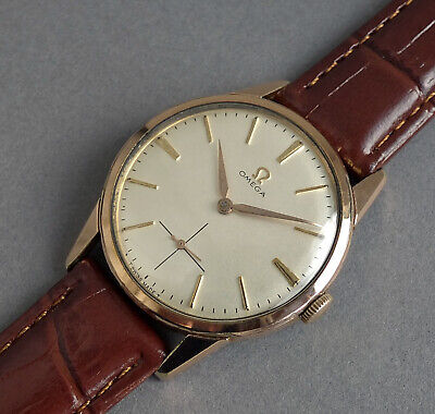 OMEGA Gents Rose Gold Plated  Vintage Manual Watch 1960