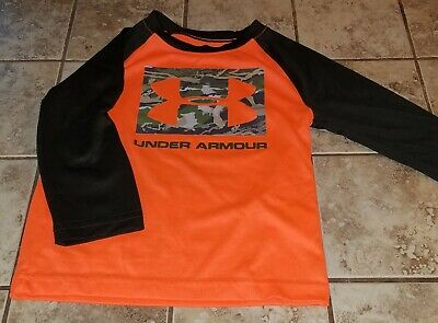 Toddler Boy's UNDER ARMOUR long sleeve Shirt Size 2T GUC