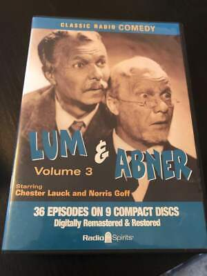 LUM & ABNER Volume 3 ~ Classic Comedy Radio Broadcasts ~ 36 episodes on 9 CD's!