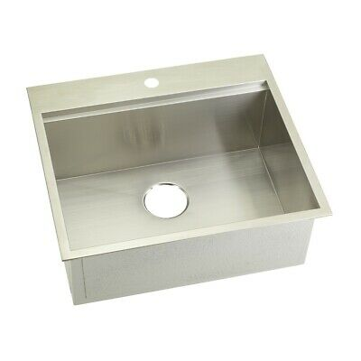 """KABCO 25"""" Kitchen Sink, Top Mount and Undermount, 304 SS, 16 Ga., SB"""