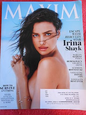 Maxim Magazine July August 2014 Hercules Star Irina Shayk Sexiest Pools