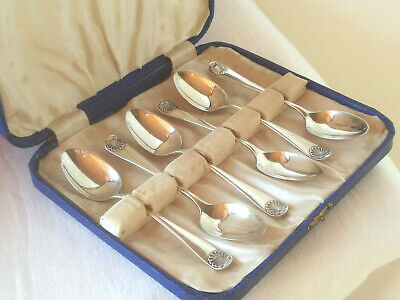 Sterling Silber 925 Set Mocca/Kaffeelöffel 1932 / coffee silver spoons set