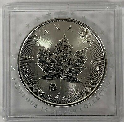 1 oz Silver Maple Leaf 2018 Fabulous 15 Privy Mark F15 CANADA 5$ EXTREMELY RARE