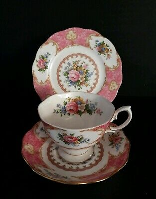 Stuning  Royal Albert Cup Saucer Plate Trio  Lady Carlyle Design.1st Quality.  2