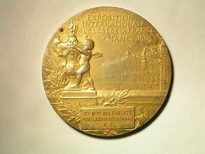 Exposition Internationale de L'Est de la France Nancy 1909 silver-gilt medal.