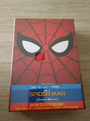 Coffret blu ray collector Spiderman homecoming neuf