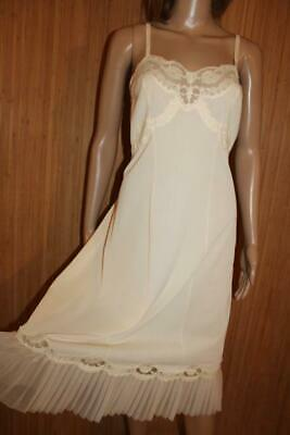 Vtg 50S Honeysuckle Silky Soft Nylon & Pleated Full Slip, Petticoat Size 18-20
