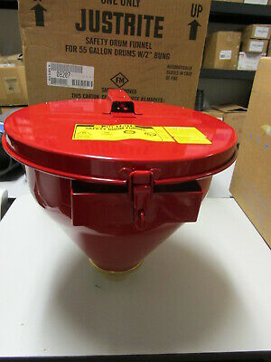 "Justrite Safety Drum Funnel For 55 Gallon Drums With 2"" Bung #08207 - New"