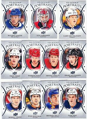 2018-19 Upper Deck Series 2 PORTRAITS Lot of 11 RC Cards SEE LIST Thomas Terry