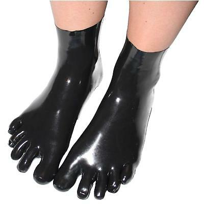 Latex Rubber Socken Gummi New Black Five Fingers Short Socks Size