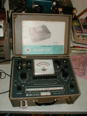 Vintage Allied Knight-Kit 83Y636-A0010362 Vacuum Tube Tester 600A with Books